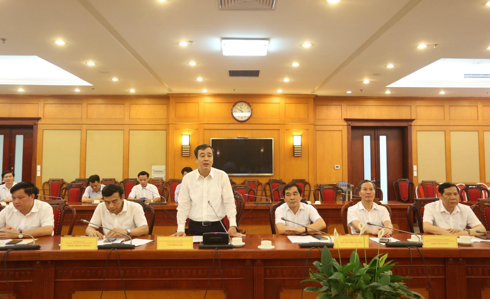 Bí thư tỉnh ủy Thái Bình Ngô Đông Hải đề nghị Bộ KH&CN tiếp tục phối hợp với UBND tỉnh trong công tác chỉ đạo, điều hành hoạt động KH&CN của tỉnh.