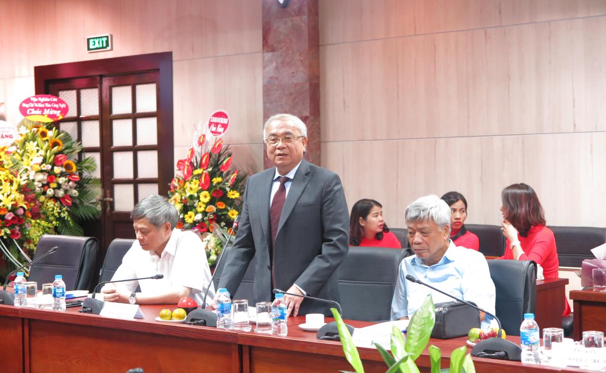 Nguyên Bộ trưởng Hoàng Văn Phong Bộ KH&CN phát biểu tại buổi lễ.