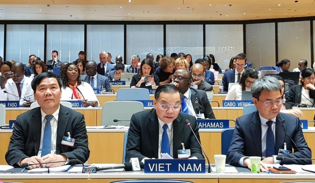 Bộ trưởng Chu Ngọc Anh phát biểu tại Đại hội đồng WIPO 2019